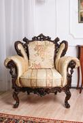 Luxury wooden antique chair in the room Kuvituskuvat