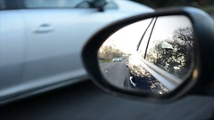 Driving on road, wing mirror detail Arkistovideo