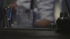 Preparation of a good cocktail in a bar Stock Footage