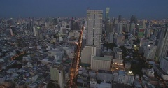 Slider Reveal Shot of Rooftop Bar And Restaurant on High-rise Tower in Bangkok, Stock Footage