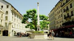 Obelisk - Monument in Geneva Stock Footage