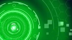 Futuristic Green Hi-Tech Technology Background. Stock Footage