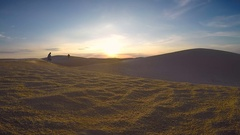 Barchans of sand at the desert Stock Footage