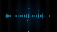 Digital audio waveform animation Stock Footage