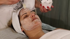 Face pack mask treatment Stock Footage
