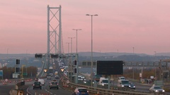 1k Timelapse over the Forth Road Bridge Stock Footage
