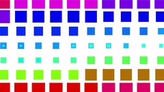 4k vj square neon light array matrix background cube big data database backdrop. Stock Footage