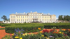 Rundale Palace in Latvia Stock Footage