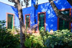 Colorful courtyard at the Frida Kahlo Museum in Mexico City Kuvituskuvat