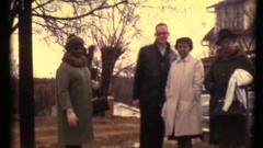 1960'S African American Reunion and garden party Stock Footage