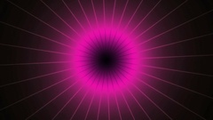 Turning purple pink shinning neon spike discs on dark. Sphere energy field Stock Footage