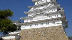 The white Heron castle - Himeji Stock Footage