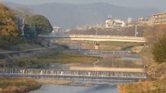 Bridge, river at Mikage Dori area Stock Footage