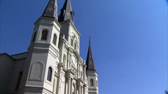 Static Of St Louis Cathedral French quarter New Orleans Louisiana Stock Footage
