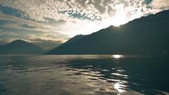 Kamchatka mountains at sunset Stock Footage