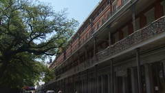 French quarter iron architecture new orleans louisiana Stock Footage