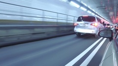 Driving through the HOLLAND TUNNEL - 4k - super cool shot Stock Footage