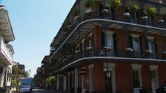 French Quarter Building Pan New Orleans Louisiana Stock Footage