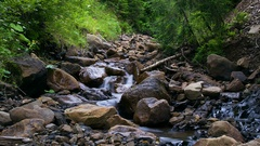 Time lapse of stones in the mountain river Stock Footage
