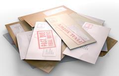 Mail Stack Stock Illustration