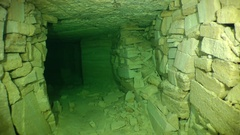 Flooded mine: Movement of the camera along the drift. Stock Footage