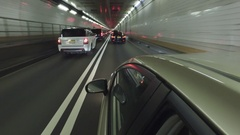 Great driving point of view - New York City - Holland Tunnel - 4k Stock Footage