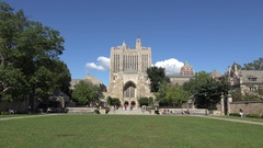 Sterling Memorial Library, Yale University, New Haven, Connecticut. Stock Footage