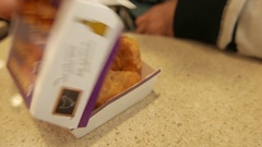 4K Mc Donalds Chiken Nuggets - Fast Food Restaurant Closeup Stock Footage