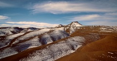 Aerial, Snowy Mountains, Landscape Around Agoudal, Morocco Stock Footage