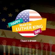 Vector Martin Luther King day us sticker or label Stock Illustration