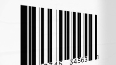 Camera Pans up side of a Generic  Bar Code Stock Footage