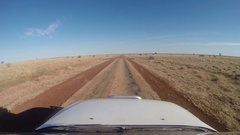 Driving through vastness of northern Australian outback Stock Footage