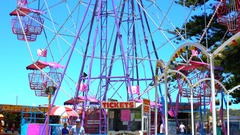 VicHarbor Childrens fairground situated on Franklin Parade overlooking Encounter Stock Footage
