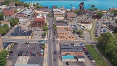 Front St Flight To Ore Dock Marquette Stock Footage
