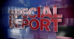 Dynamic Special Report News Title Page Background Plate Stock Footage
