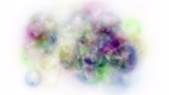 4k Abstract color bubble froth soap blister explosion particles background. Stock Footage