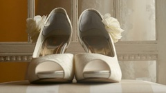Wedding shoes in Kristiansand, Norway Stock Footage