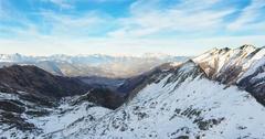 Snow Covered Mountain Range Stock Footage