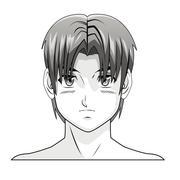 Face boy anime manga comic hair style Piirros