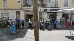 Bus station in Marseille France Stock Footage