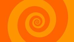 Looping orange spiral turning background. HD animation Stock Footage