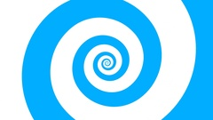 Hypnotizing blue and white spiral turning background. HD looping animation Stock Footage