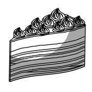 Embellished cake pastry icon image Stock Illustration