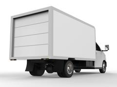 Small white truck. Car delivery service. Delivery of goods and products to Piirros