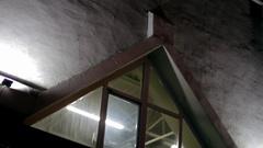 Triangular window Stock Footage
