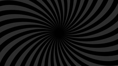 Black and grey abstract background with endless spiral. Hypno spiral HD Stock Footage