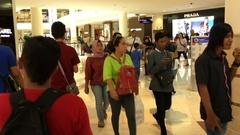 Hyperlapse point of view shot of the Suria KLCC mall, Kuala Lumpur Stock Footage