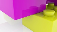 Toy bricks in various colors Stock Footage