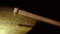 Drum stick hitting a cymbal Arkistovideo