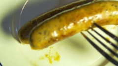 Gormet sausage meat spiced Stock Footage